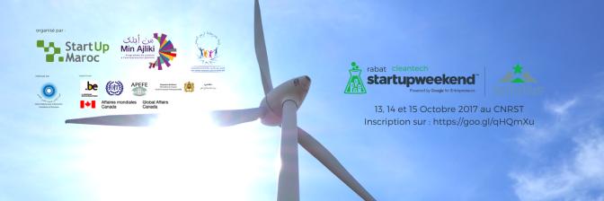 StartUp Weekend Rabat 2017 : Cleantech edition